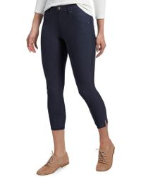 Hue - Ankle Slit Essential Denim Capri Trousers - Lyst