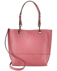 Calvin Klein - Reversible Leather Satchel And Clutch Set - Lyst