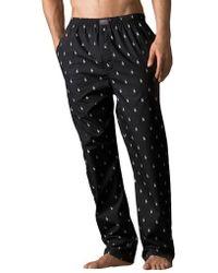Polo Ralph Lauren - Printed Pony Cotton Pyjama Trousers - Lyst