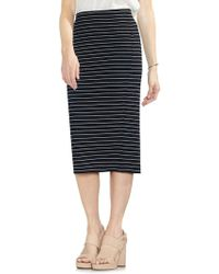 Vince Camuto - Striped Thin-ribbed Pencil Skirt - Lyst
