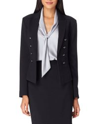 Tahari - Petite Double Weave Military Style Jacket - Lyst