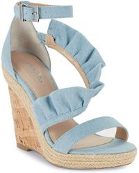 Charles David - Brooke Denim Wedge Sandals - Lyst