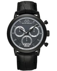 88 Rue Du Rhone - Menas Chronograph Watch With Leather Strap - Lyst