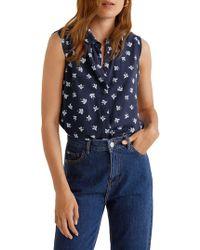 Mango - Paula Printed Sleeveless Button-down Shirt - Lyst