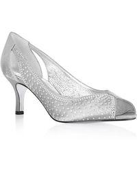 Adrianna Papell - Jenna Rhinestone Peep-toe Court Shoes - Lyst