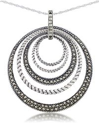 Lord & Taylor - Multi Circle Pendant Necklace - Lyst