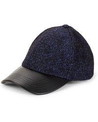 Steve Madden - Faux-leather Tweed Baseball Cap - Lyst