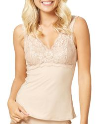 Fine Lines   Luxuries Lace Cup Camisole   Lyst