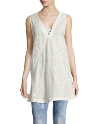 Free People - Sleeveless V-neck Top - Lyst