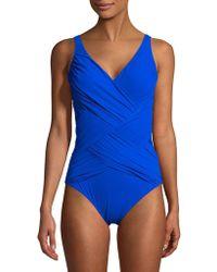 Gottex | One-piece Lattice Surplice Swimsuit | Lyst