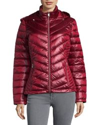 Calvin Klein - Petite Puffer Down Hooded Jacket - Lyst