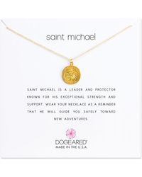 Dogeared - Reminder Saint Michael Sterling Silver Pendant Necklace - Lyst