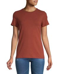 ea374bc8f7fe7 Lord   Taylor - Short-sleeve Essential Crew Neck Tee - Lyst