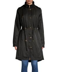 Ellen Tracy - Slim-fit Hooded Long Anorak - Lyst