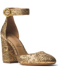 Michael Kors - Rena Shimmery Ankle Strap Pumps - Lyst