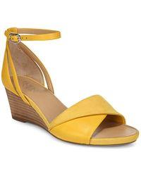 Franco Sarto - Deirdra Ankle Strap Wedge Sandals - Lyst