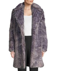 96a2abd616d5 MICHAEL Michael Kors Hooded Coat With Faux Fur Trim in Green - Lyst