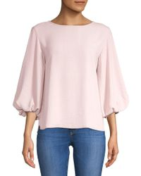 Lord & Taylor - Classic Quarter-sleeve Blouse - Lyst