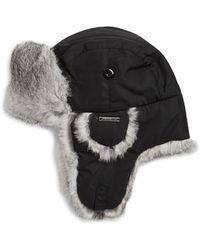 b2d2fffb398 Lyst - Crown Cap Rabbit Fur Trimed Aviator Hat in Black for Men