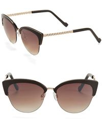 Jessica Simpson - 55mm Clubmaster Cat Eye Sunglasses - Lyst