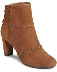 Aerosoles - First Ave Suede Booties - Lyst