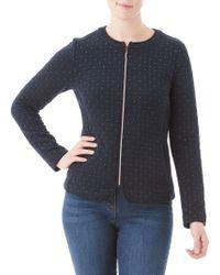 Olsen - Nordic Mood Quilted Zip Front Jacket - Lyst