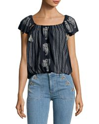 Free People - Off-the-shoulder Cotton Top - Lyst