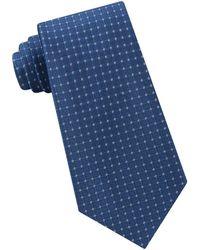 Calvin Klein - Simple Grid Silk Tie - Lyst