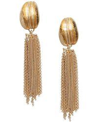 Mango - Hugo Chain Dangle Earrings - Lyst