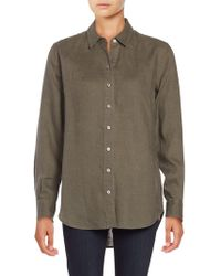 Lord & Taylor - Linen Blouse - Lyst
