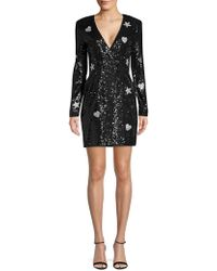 Laundry by Shelli Segal - Hearts & Stars Double-breasted Sequin Blazer Dress - Lyst