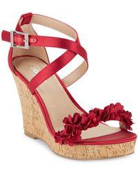 Charles David - Lauryn Satin Wedge Sandals - Lyst