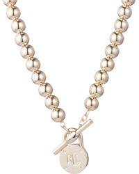 Lauren by Ralph Lauren - Logo Toggle Necklace - Lyst