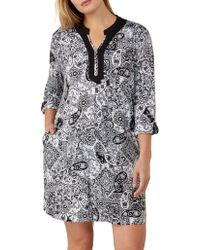 Ellen Tracy - Plus Three-quarter Sleeve Sleepshirt - Lyst