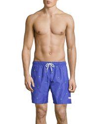 0f10568122 Tommy Hilfiger Side Print Swim Shorts in Blue for Men - Lyst
