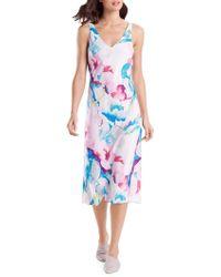 N Natori - Pastel Blossom Floral Nightgown - Lyst