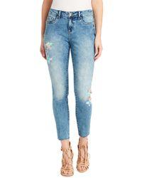 Jessica Simpson - Kiss Me Painted Skinny Jeans - Lyst