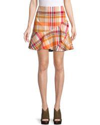 Trina Turk - California Dreaming Conversation Plaid Cotton Skirt - Lyst