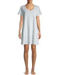 Karen Neuburger - Printed Cotton Blend Nightgown - Lyst