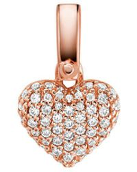Michael Kors - Custom Kors 14k Rose Gold-plated Sterling Silver Pave Heart Charm - Lyst