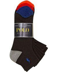 Polo Ralph Lauren - Heel Toe Arch Support Quarter Socks Set - Lyst