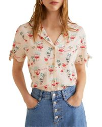 Mango - Knot Graphic Button-down Shirt - Lyst