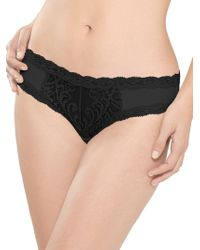 26c03d459331 Natori Feathers Hipster Panty in Black - Lyst