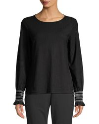 Isaac Mizrahi New York - Textured Long-sleeve Top - Lyst