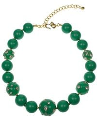 Kenneth Jay Lane - Candy Ball Crystal And Jade Beads Necklace - Lyst