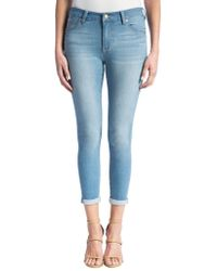 Liverpool Jeans - Remy Hugger Mid-rise Cropped Jeans - Lyst