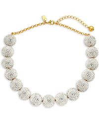 Kate Spade - Goldtone And Crystal Beaded Statement Necklace - Lyst