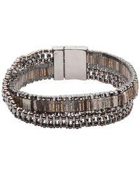 Lonna & Lilly - Crystal Cuff Bracelet - Lyst