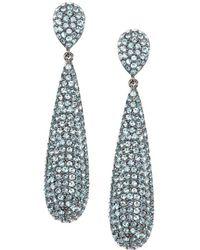 Nina - Adair Swarovski Crystal Elongated Teardrop Earrings - Lyst