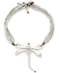 Uno De 50 - Dragon Fly Beaded Statement Necklace - Lyst